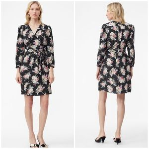 New Rebecca Taylor Bouquet Floral Silk Dress